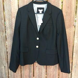Vintage J Crew Black Blazer size 12 Women New